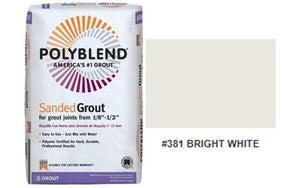 #381 BRIGHT WHITE SANDED GROUT 25LB $15.99/BAG - Home Idol Home Improvement Outlet