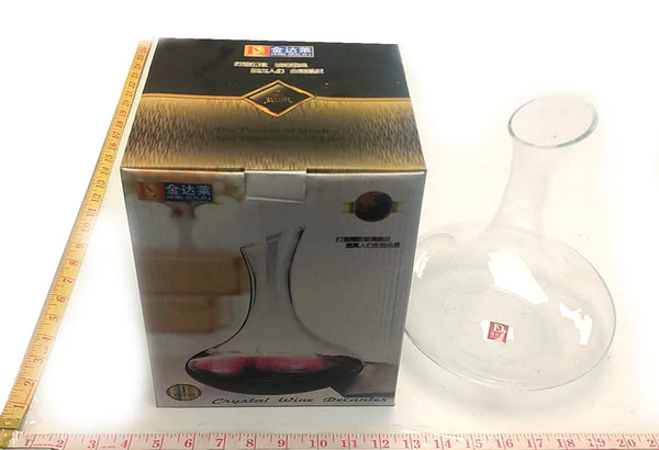 JX-9001 CRYSTAL WINE DECANTER GLASS KING DEALAY $7.5