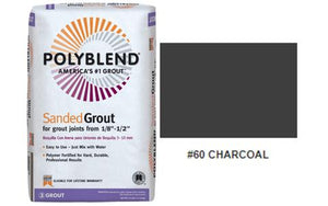 #60 CHARCOAL SANDED 25LB GROUT $15.99/BAG - Home Idol Home Improvement Outlet