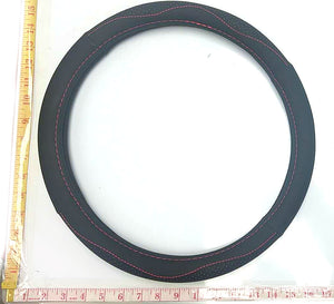 LEATHER STEERING WHEEL COVER BLACK $9.5 - Home Idol Home Improvement Outlet