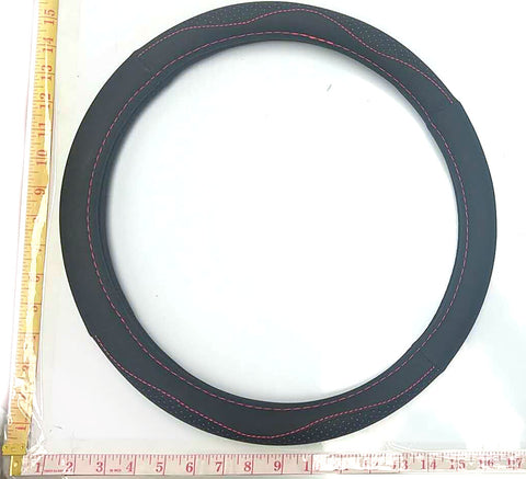 LEATHER STEERING WHEEL COVER BLACK $9.5