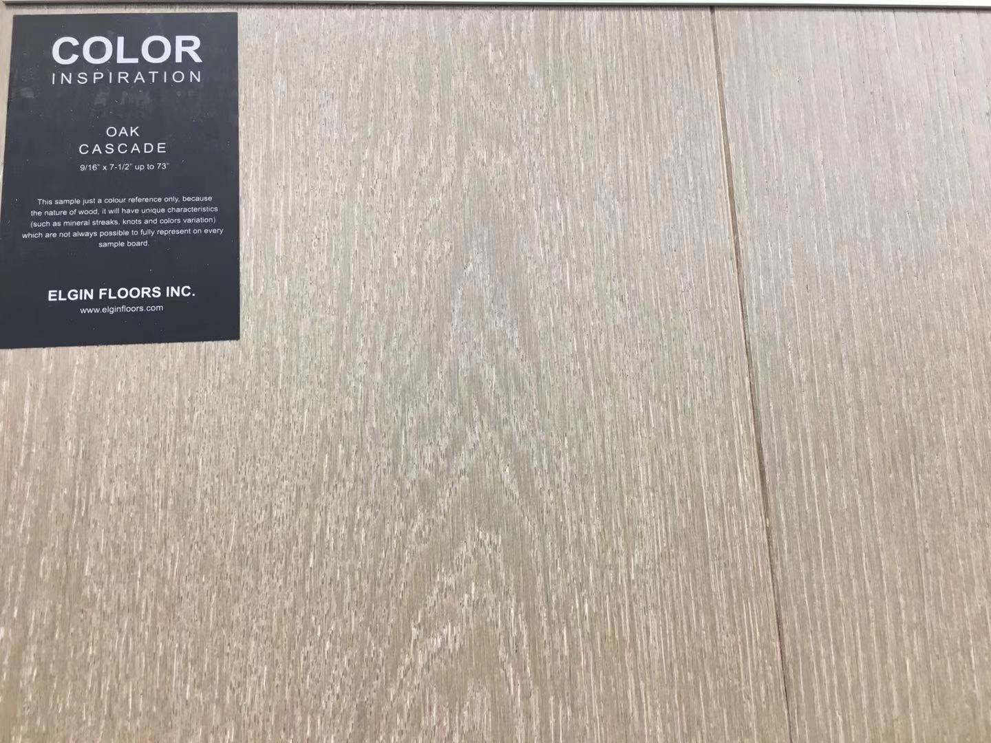 "SPX ORDER 1-2DAYS ENGINEERED HARDWOOD 7-1/2"" WIDTH 2MM TOP LAYER OAK CASCADE $4.26/SF 23.33SF/BOX $99.49/BOX - Home Idol Home Improvement Outlet"