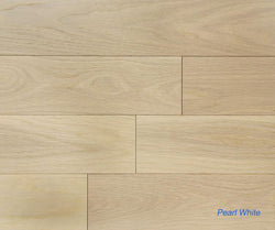 "SPX ORDER 1-2DAYS ENGINEERED HARDWOOD OAK PEARL WHITE 5"" 26.25SF/BOX $3.79/SF $99.49/BOX - Home Idol Vancouver"