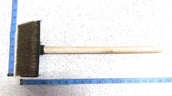 "SHORT BLACK BROOM BRUSH WITH WOODEN HANDLE TIAN FU 18"" $1.25 - Home Idol Vancouver"
