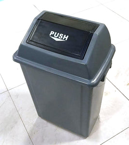 "*CLEARANCE* BIG GREY PLASTIC GARBAGE BIN WITH FLIPPING LID 45L 10""X15""X20"" $9.5 - Home Idol Home Improvement Outlet"