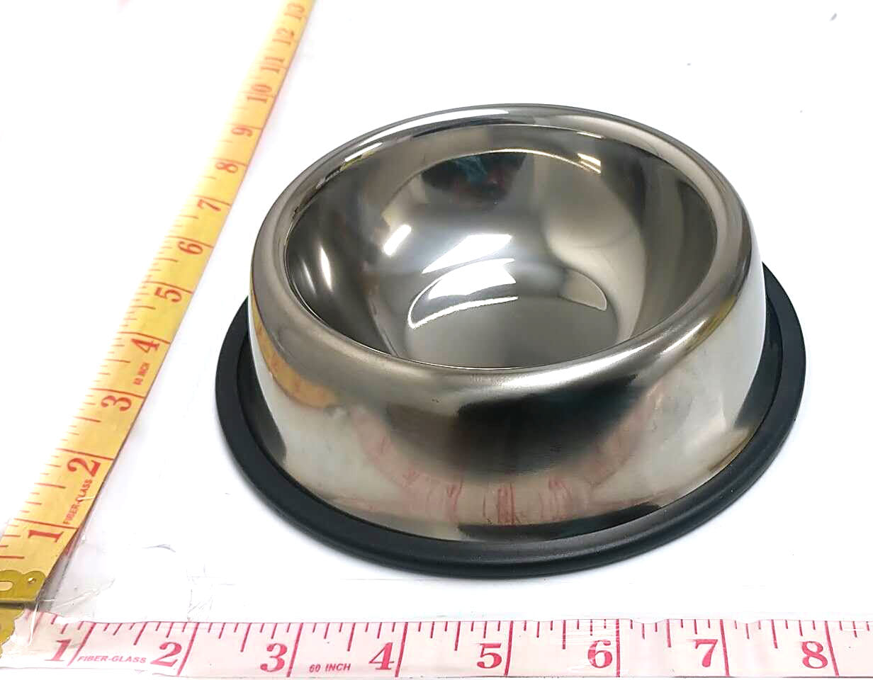 "STAINLESS STEEL DOG BOWL 18CM=7"" $3.99 - Home Idol Home Improvement Outlet"