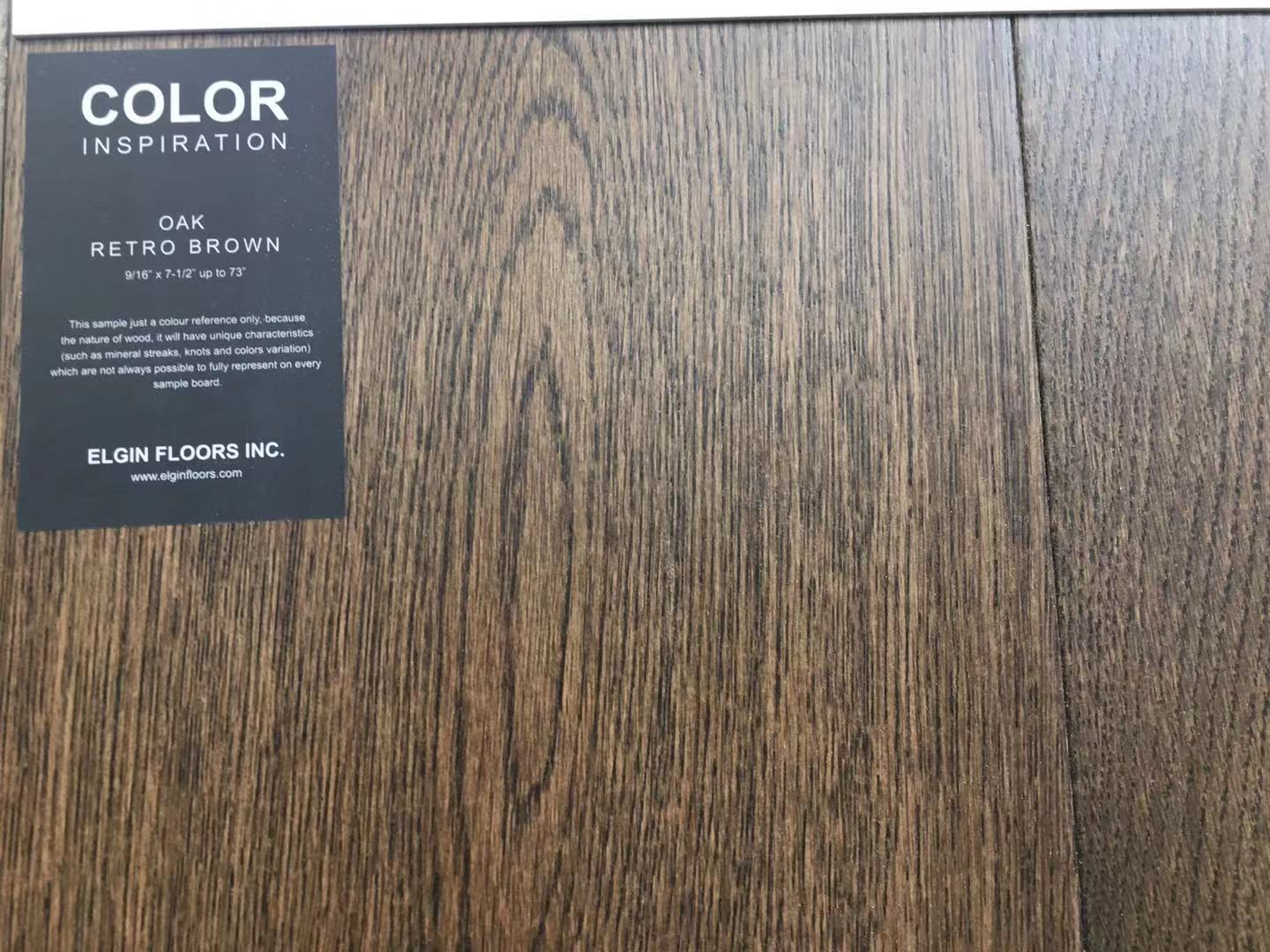 "SPX ORDER 1-2DAYS ENGINEERED HARDWOOD 7-1/2"" WIDTH, 2MM TOP LAYER OAK RETRO BROWN $4.26/SF 23.33SF/BOX $99.49/BOX# - Home Idol Home Improvement Outlet"