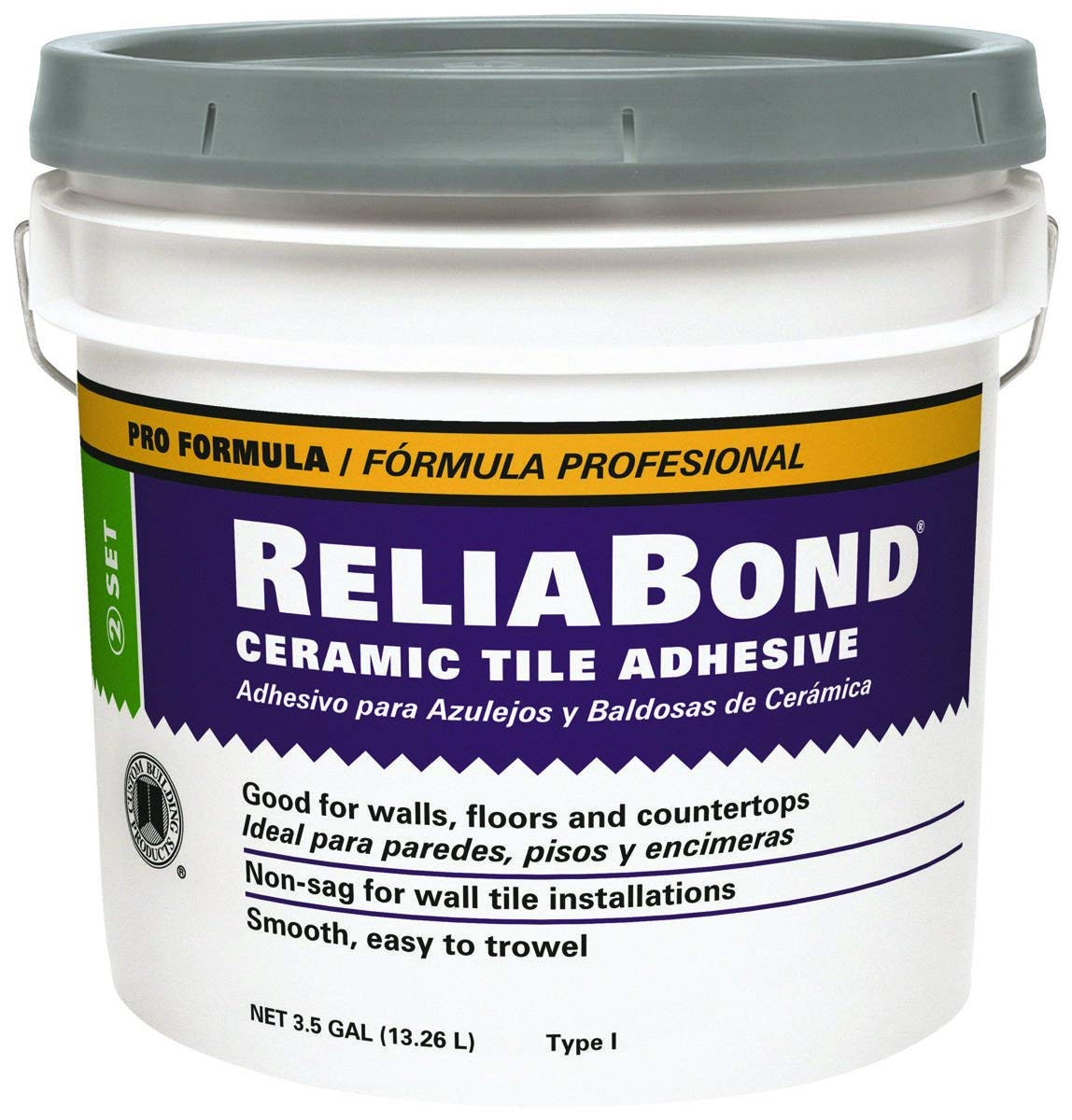 RELIABOND CERAMIC TILE ADHESIVE 3.5G (COVER 175SF) $32.5/BUCKET - Home Idol Home Improvement Outlet