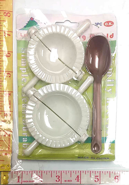 658 SMALL DUMPLING MAKER 3PC COMBO (2 MAKERS+SPOON) $1.25