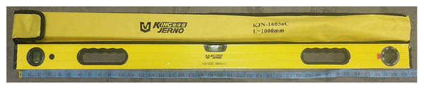 "BUBBLE SPIRIT LEVEL RULER YELLOW KING JERNO KJN-16036C 1000MM=39"" $9.5 - Home Idol Vancouver"