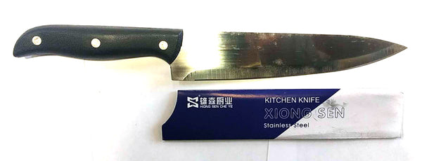 "KITCHEN KNIFE STAINLESS STEEL XIONG SEN 7.5"" BLADE $1.5"