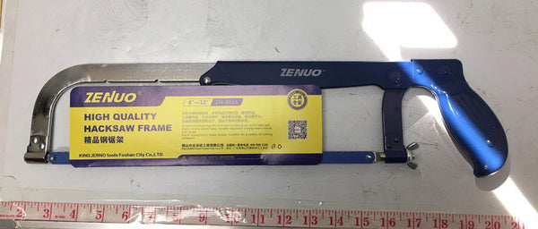 "ZENUO HIGH QUALITY HACKSAW FRAME BLUE, HARDWARE 8""-12"" $2.75 *"