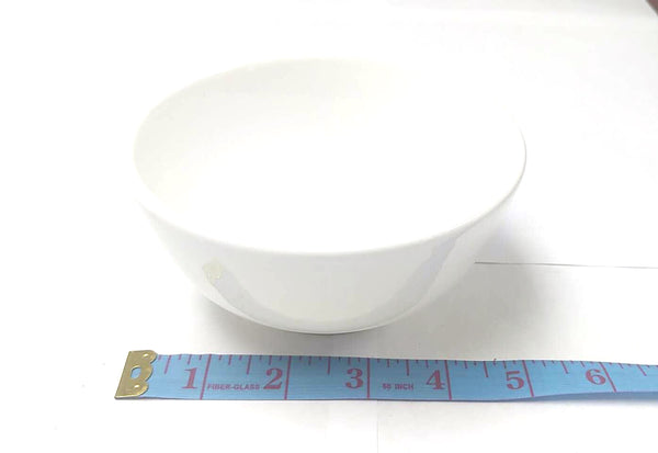 "ROUND PORCELAIN BOWL (RICE BOWL) WHITE 5"" $1.25"