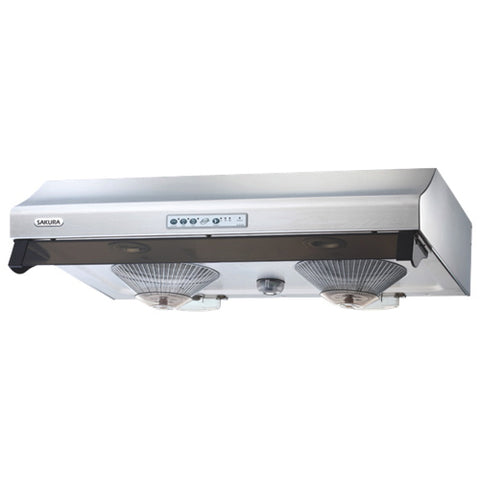 "SAKURA RANGE HOOD R8168F-30HS 30"" SATIN 730CFM EXHAUST SIZE 6"" $579 # - Home Idol Home Improvement Outlet"