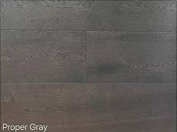 "SPX ORDER 1-2DAYS ENGINEERED HARDWOOD OAK PROPER GRAY 30.27SF/BOX 7.5""X74"" $4.9/SF $148.39/BOX - Home Idol Vancouver"