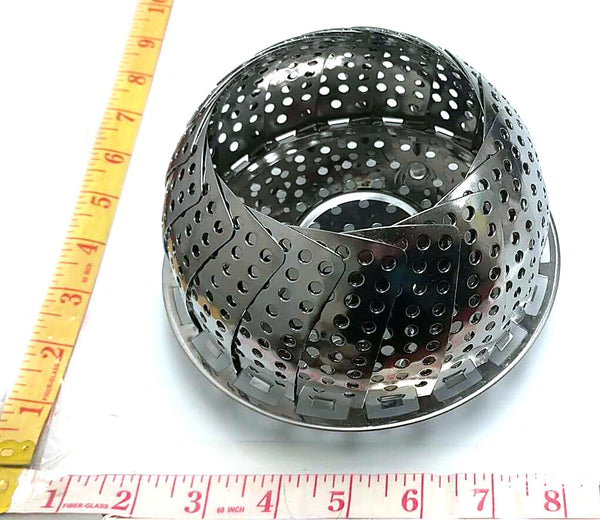 ROUND STEAMER BOWL WITH CLOSING LID STAINLESS STEEL $2.75