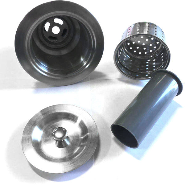 KITCHEN SINK DRAIN WITH STRAINER STAINLESS STEEL $9.99