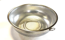 "ROUND STRAINER BASKET STAINLESS STEEL 25.5CM=10"" $2.75 - Home Idol Vancouver"