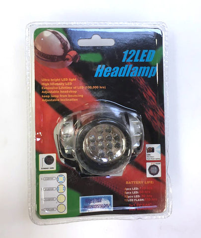 12 LED HEADLAMP, HEAD LIGHT,LED LIGHT $3.99 * - Home Idol Home Improvement Outlet