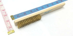 "COPPER WIRE BRUSH WITH WOODEN HANDLE 1""X8"" $1.25 - Home Idol Home Improvement Outlet"