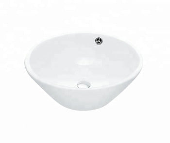 "SN157 (SN150) ART BASIN OVAL BATHROOM SINK VESSEL TOPMOUNT 420X420X140MM=16.5""X16.5""X5.5"" $49.99 - Home Idol Vancouver"