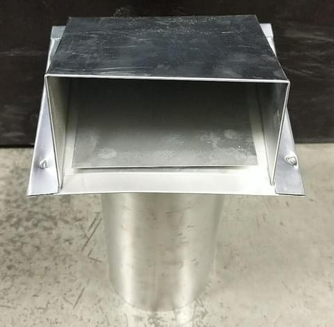 "051095 WALL CAP W/DAMPER GALVANIZED (DRYER VENT HOOD) 5"" $16.18 - Home Idol Vancouver"