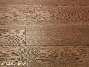 "SPX ORDER 1-2DAYS ENGINEERED HARDWOOD OAK SMOKY BROWN 6"" 23.7SF/BOX $4.79/SF $113.52/BOX - Home Idol Home Improvement Outlet"