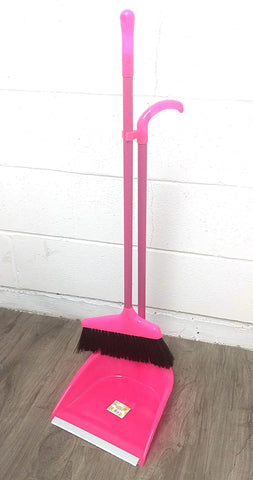 BRUSH BROOM+GARBAGE SHOVEL COMBO WITH HANDLE (8809/8021/6601) $4.99 - Home Idol Home Improvement Outlet