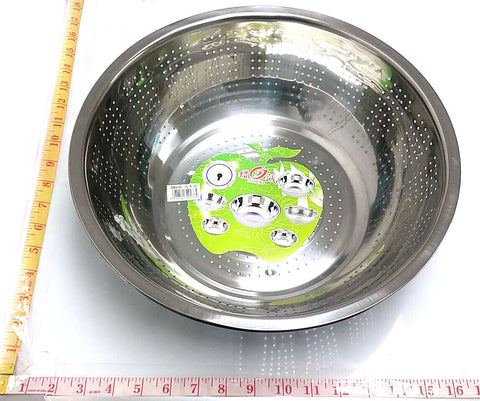 "RICE WASHING STRAINER STAINLESS STEEL LICHENG 36CM=14"" $2.75 - Home Idol Home Improvement Outlet"