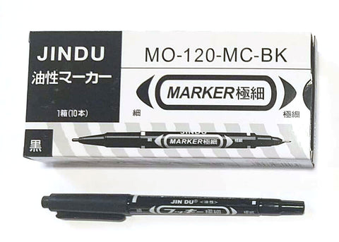 MO-120-MC-BK SMALL MARKER PEN BLACK JINDU 10PC/PACK $2.75/10PC ($0.275=1PC) - Home Idol Home Improvement Outlet