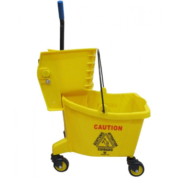 YELLOW MOP BUCKET WITH SIDE PRESS WRINGER 24L $39.99 - Home Idol Vancouver