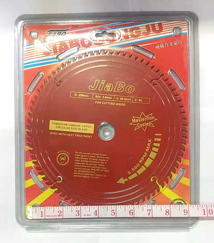 "ROUND WOOD CUTTING SAW BLADE RED JIABO 9"" $9.5 - Home Idol Home Improvement Outlet"