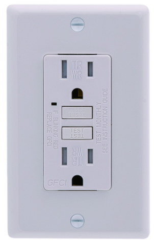GFCI 15AMP TR WITH 1G PLATE BATHROOM USE $9.5 # - Home Idol Home Improvement Outlet