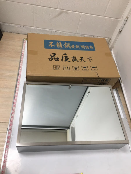 "STAINLESS STEEL MIRROR CABINET 400X600X130 40""X60"" $49.99 ###"