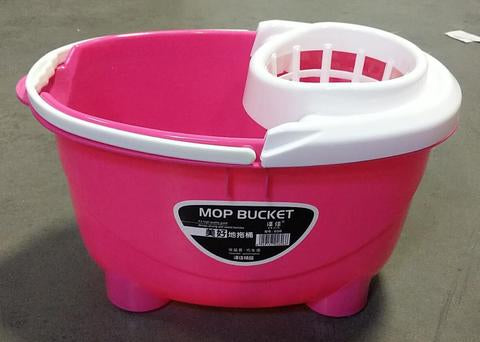 MOP BUCKET PINK WITH WHEELS $4.99 - Home Idol Home Improvement Outlet