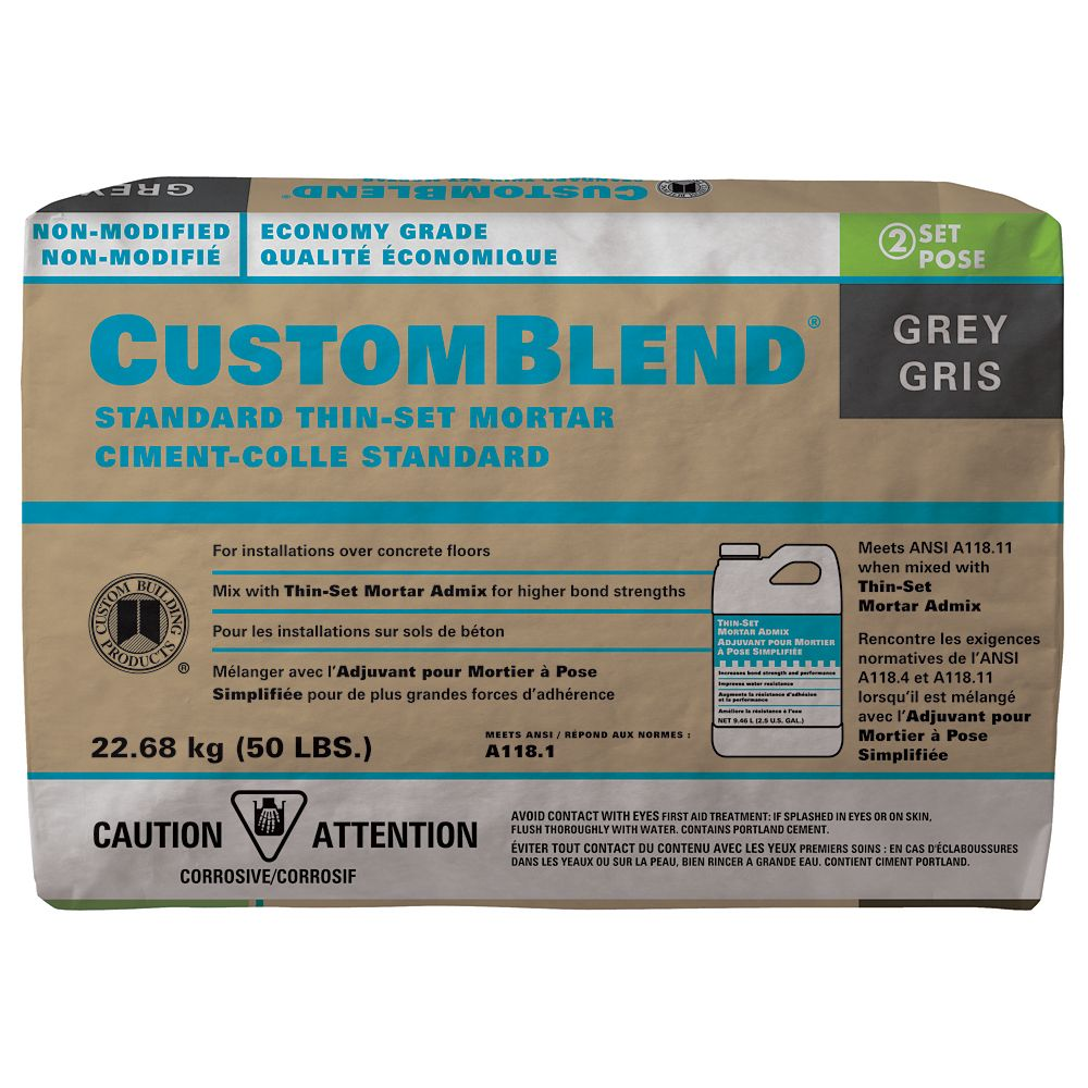 CUSTOMBLEND NON-MODIFIED THIN-SET INDOOR 50LB $8.5 - Home Idol Home Improvement Outlet