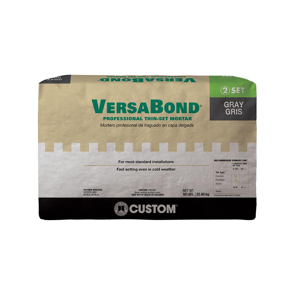 VERSABOND THIN-SET GRAY 50LB $14.99/BAG - Home Idol Home Improvement Outlet