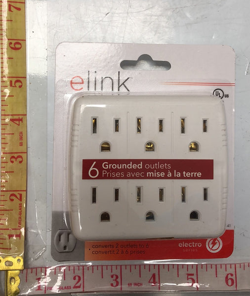 EL-541 ELECTRO 6 GROUNDED OUTLETS $2.75 ###