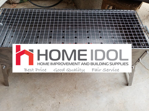 "STAINLESS GRILL BBQ 80X23 STAND 9""X32"""