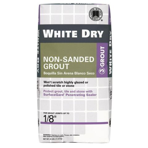 WHITE DRY TILE GROUT 25LB $15.75/BAG - Home Idol Home Improvement Outlet
