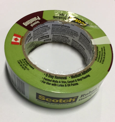 36MM SCOTECH MASKING TAPE GENERAL PAINTING $3.99/Roll #