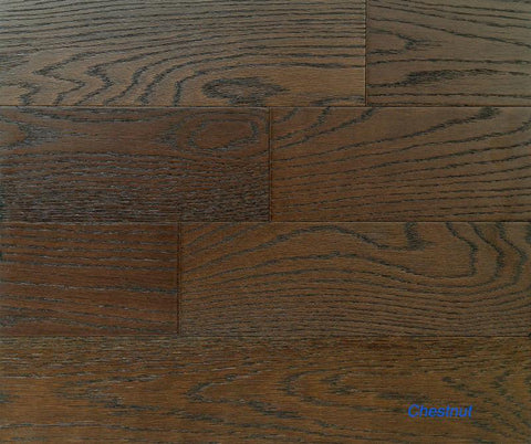 "SPX ORDER 1-2DAYS ENGINEERED HARDWOOD OAK CHESTNUT 5"" 26.25SF/BOX $3.79/SF $99.49 - Home Idol Vancouver"