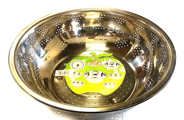 "LARGE RICE WASHING STRAINER STAINLESS STEEL LICHENG 34CM=13"" $2.5 - Home Idol Vancouver"