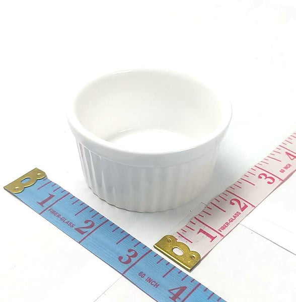 "SMALL PORCELAIN BAKING CUP ROUND 3"" $1.25"