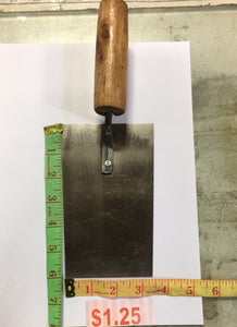 "THIN FLAT TROWEL STAINLESS STEEL 6""x3.5"" $1.35"