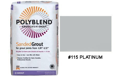#115 PLATINUM SANDED TILE GROUT 25LB