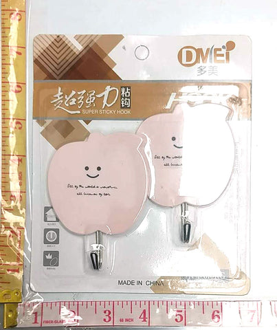 6296 PEEL & STICK SUPER STICKY HOOK DMEI 2PC/PACK $1.25 - Home Idol Home Improvement Outlet