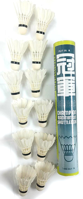 CHAMPION BADMINTON BALL (SHUTTLECOCK) 12PC/BOTTLE $4.99 - Home Idol Home Improvement Outlet