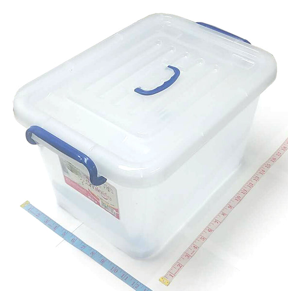 "6006 26L SQUARE PLASTIC BOX (STORAGE CRATE) WITH LID+WHEELS 11""X12.5""X17"" $4.99 - Home Idol Vancouver"