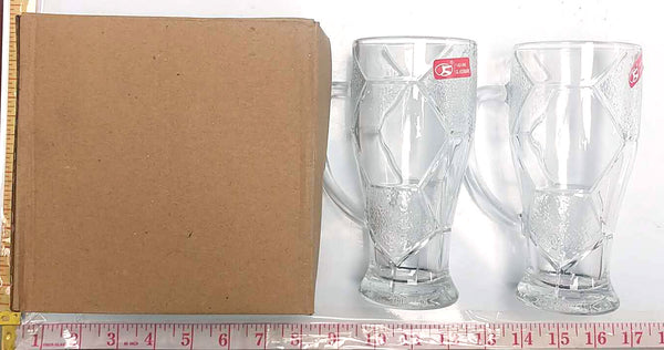 SOCCER DESIGN DRINKING GLASS CUP 2PC/BOX $2.75